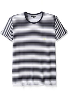 Emporio Armani Men's Microfiber Sailor Stripe Crew Neck T-Shirt