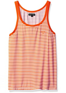 Emporio Armani Men's Microfiber Sailor Stripe Tank Top Carrot