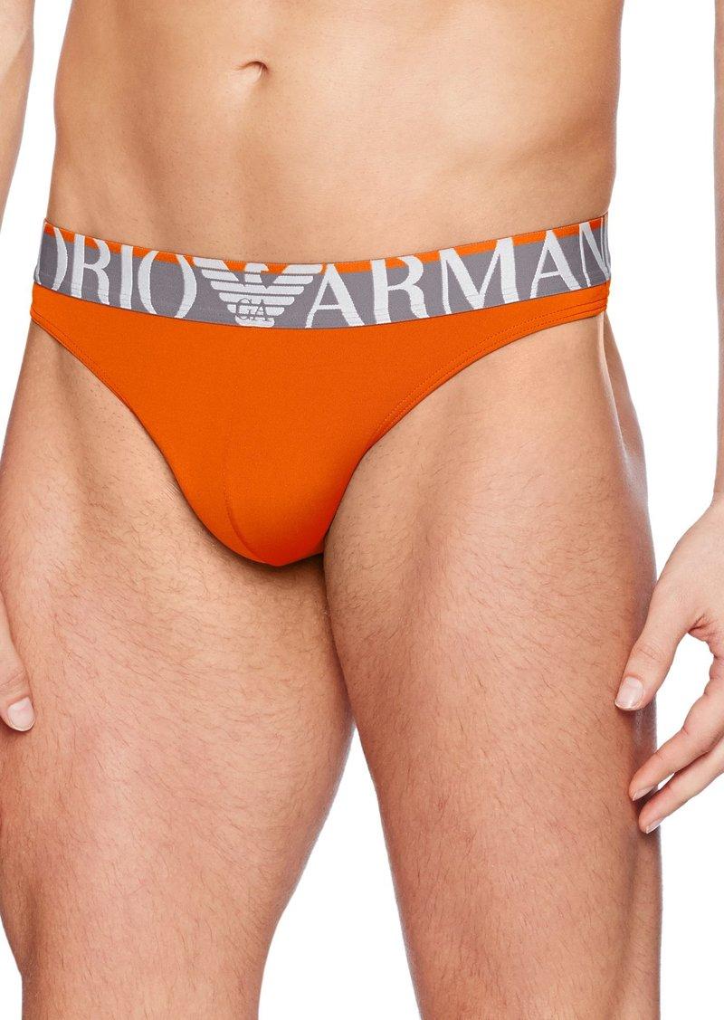594c725898d2 Armani Emporio Armani Men's Microfiber Sailor Stripe Thong Large Now ...