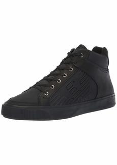 Emporio Armani Men's MID TOP LACE UP Logo Sneaker Black 10 Regular UK ( US)