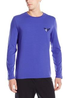 Emporio Armani Men's Mirror Effect Eagle Crew Neck Long Sleeve T-Shirt