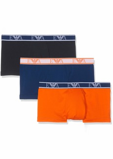 Emporio Armani Men's Monogram 3-Pack Trunk