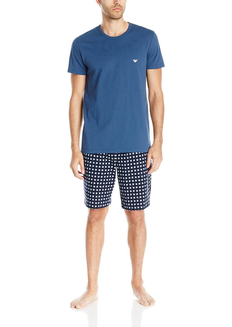 Emporio Armani Men's Pattern Mix Short Sleeve Pajamas