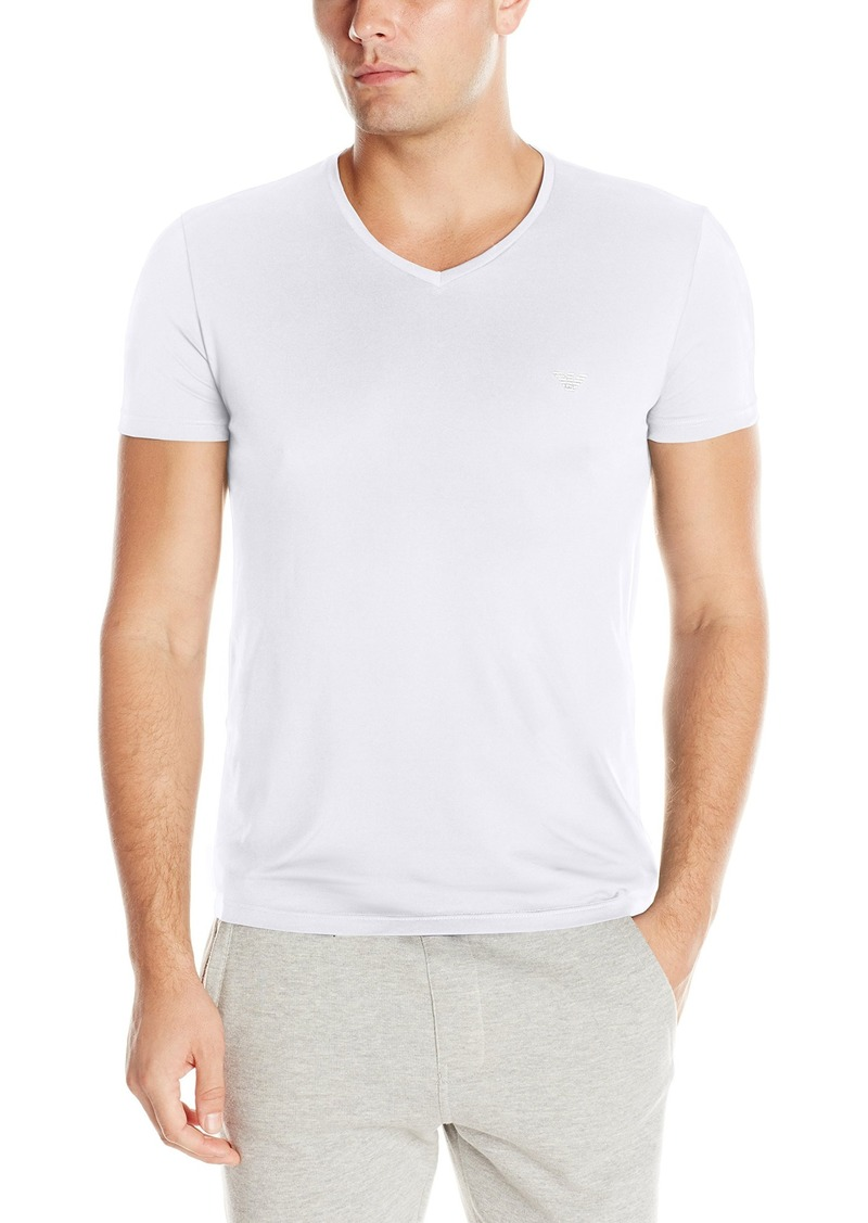 Emporio Armani Men's Pima Cotton V-Neck T-Shirt