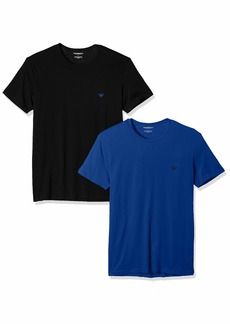Emporio Armani Men's Pure Cotton 2 Pack Crew Neck T-Shirt
