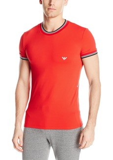 Emporio Armani Men's Racing Stripes Crew Neck T-Shirt
