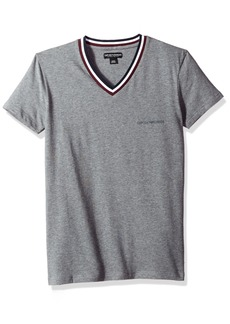 Emporio Armani Men's Rugby Player Vneck T-Shirt  M