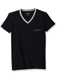 Emporio Armani Men's Rugby Player Vneck T-Shirt  S