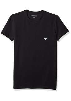 Emporio Armani Men's Shiny Logo Band Crew Neck T-Shirt