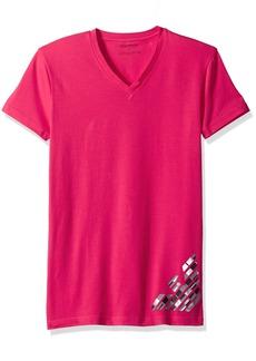Emporio Armani Men's Silver Touch Eagle V-Neck T-Shirt
