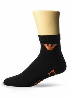 Emporio Armani Men's Sponge Cotton 2 Pack in-Shoe Socks  X-Large
