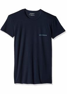 Emporio Armani Men's Stretch Cotton 2 Pack Crew Neck T-Shirt