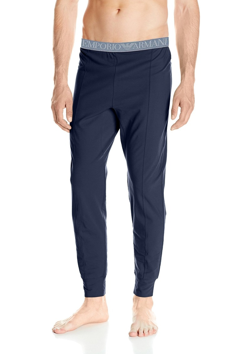 Emporio Armani Men's Tonal Logo Stretch Cotton Jogger Pant