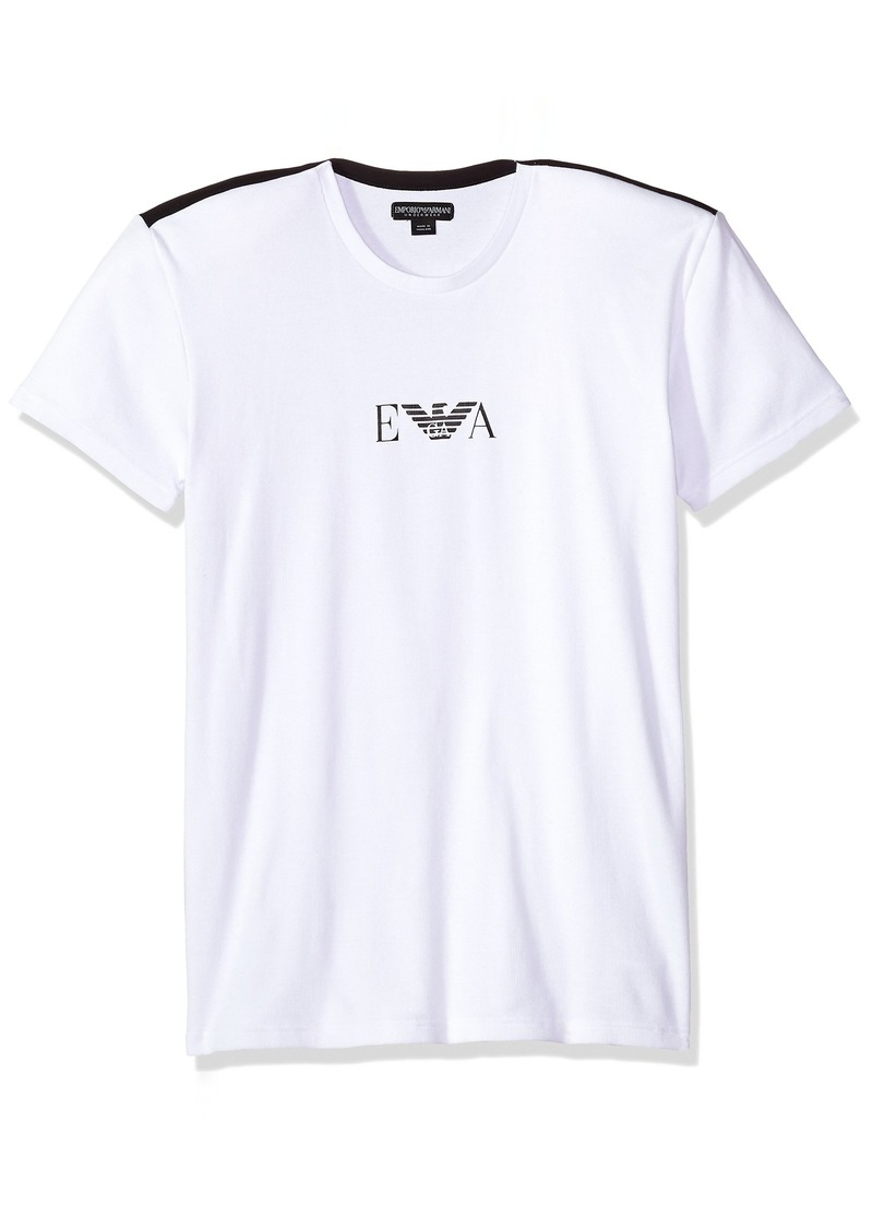 Emporio Armani Men's Stretch Cotton Boot Camp Rib T-Shirt  XL