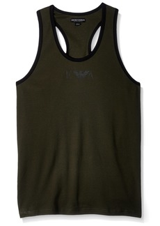 Emporio Armani Men's Stretch Cotton Boot Camp Rib Tank  M