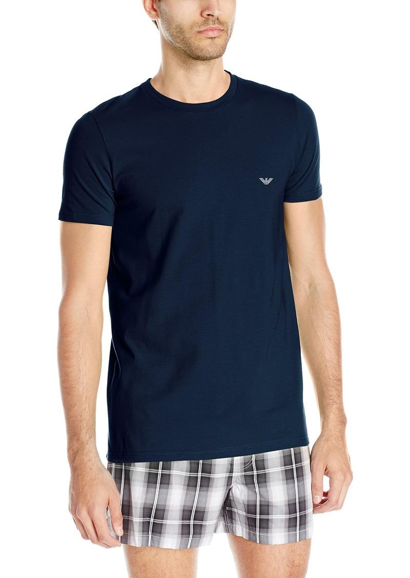 Emporio Armani Men's Stretch Cotton Crew Neck T-Shirt