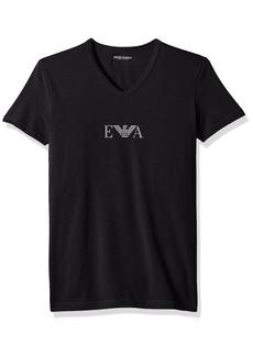 Emporio Armani Men's Stretch Cotton Multipack Vneck T-Shirt  L