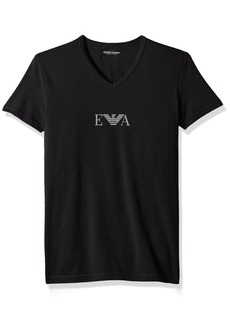 Emporio Armani Men's Stretch Cotton Multipack Vneck T-Shirt  M