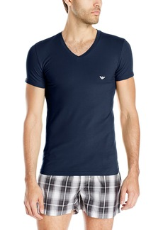Emporio Armani Men's Stretch Cotton V-Neck T-Shirt