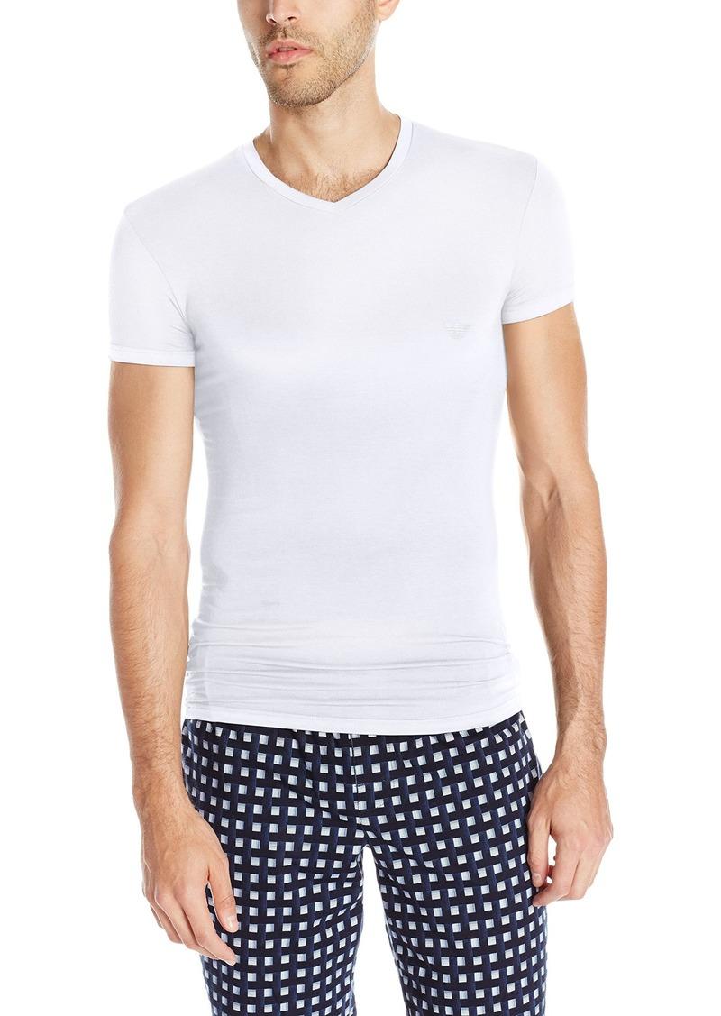 Emporio Armani Men's Stretch Modal V-Neck T-Shirt