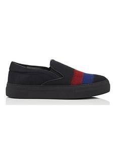 EMPORIO ARMANI Men's Striped Wool Felt Sneakers
