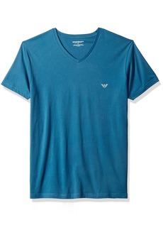 Emporio Armani Men's Superfine Pima Cotton Vneck T-Shirt  M