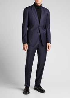 Emporio Armani Men's Tonal Windowpane Wool Two-Piece Suit