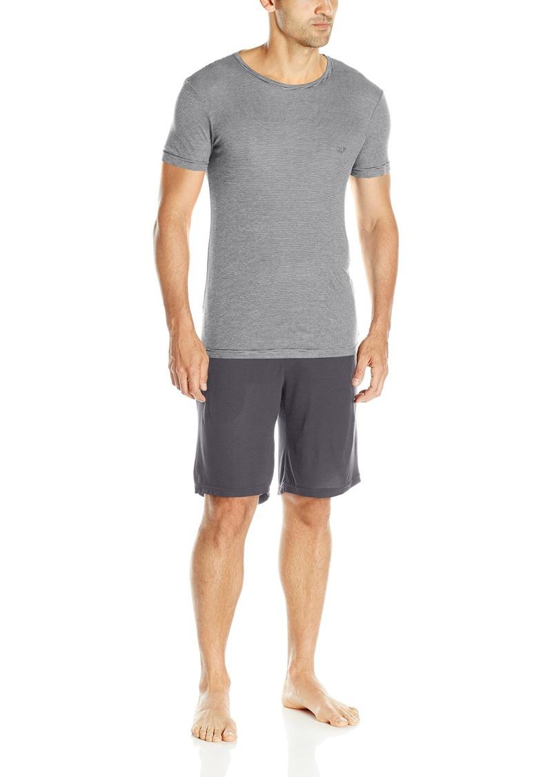 Emporio Armani Men's Viscose Short Sleeve Pajama Set