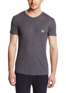 Emporio Armani Men's Yarn Dyed Loungewear Knit T-Shirt