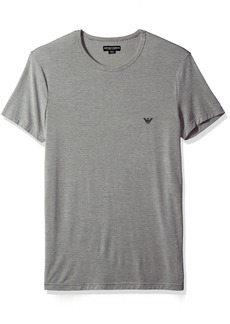 Emporio Armani Men's Yarn Dyed Viscose Lounge Crew Neck  XL