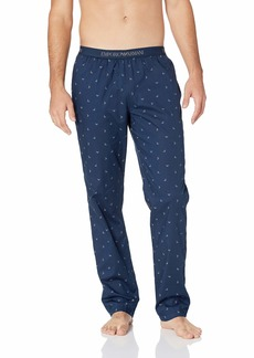 Emporio Armani Men's Yarn-Dyed Woven-Cotton Trousers