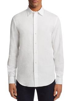 Emporio Armani Metalass�-Textured Regular Fit Sport Shirt