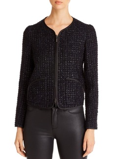 Emporio Armani Metallic-Boucl� Tweed Jacket