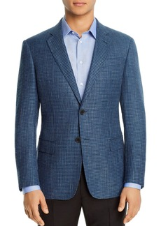 Emporio Armani Micro-Check Regular Fit Blazer