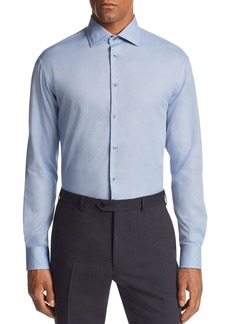 Emporio Armani Micro-Dot-Print Tailored Fit Shirt