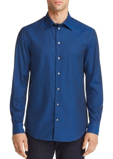 Emporio Armani Micro Dotted Print Regular Fit Button-Down Shirt