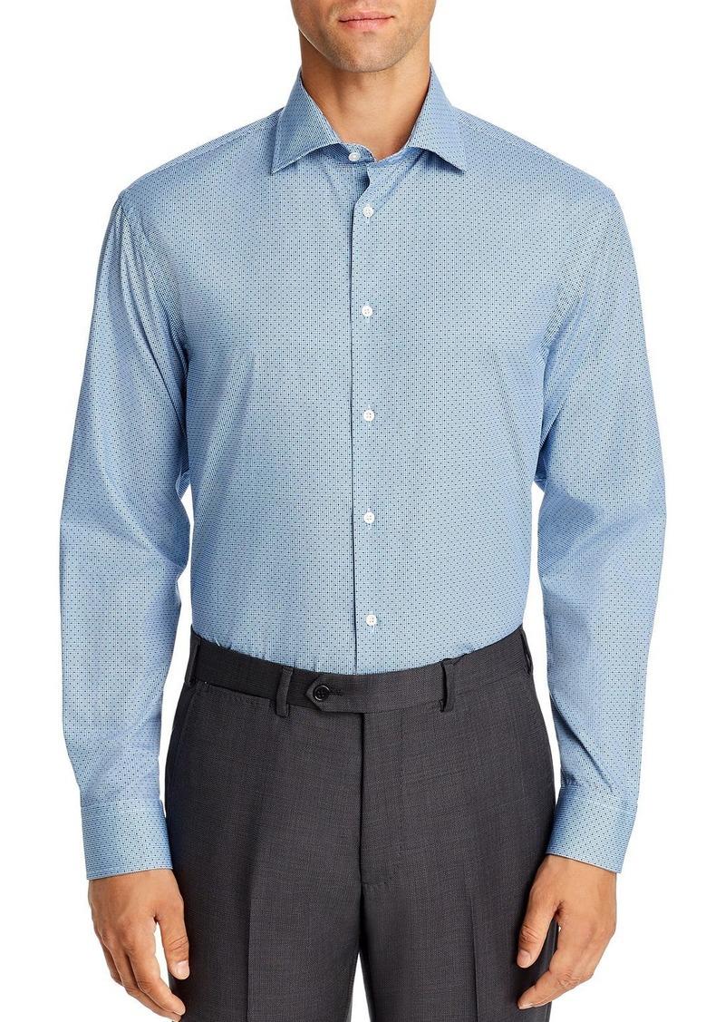 Emporio Armani Micro Print Regular Fit Dress Shirt