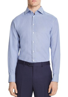 Emporio Armani Micro-Zigzag Classic Fit Dress Shirt