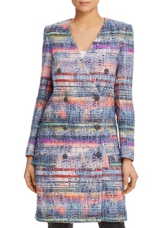 Emporio Armani Multicolor Double-Breasted Boucl� Coat