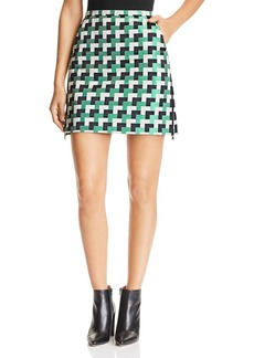 Emporio Armani Multicolor Geo-Print Mini Skirt
