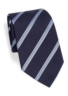 Armani Navy Stripe Silk Tie