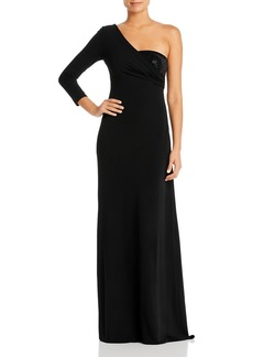 Emporio Armani One-Shoulder Gown