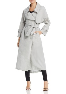 Emporio Armani Oversized Double-Breasted Trench Coat