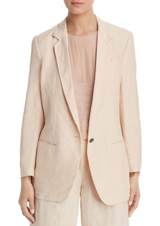 Emporio Armani Oversized Single-Button Blazer