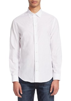 Armani Patterned Long Sleeve Cotton Shirt