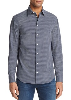 Emporio Armani Patterned Regular Fit Button-Down Shirt