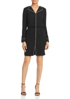 Emporio Armani Piped Lapeled Mini Dress