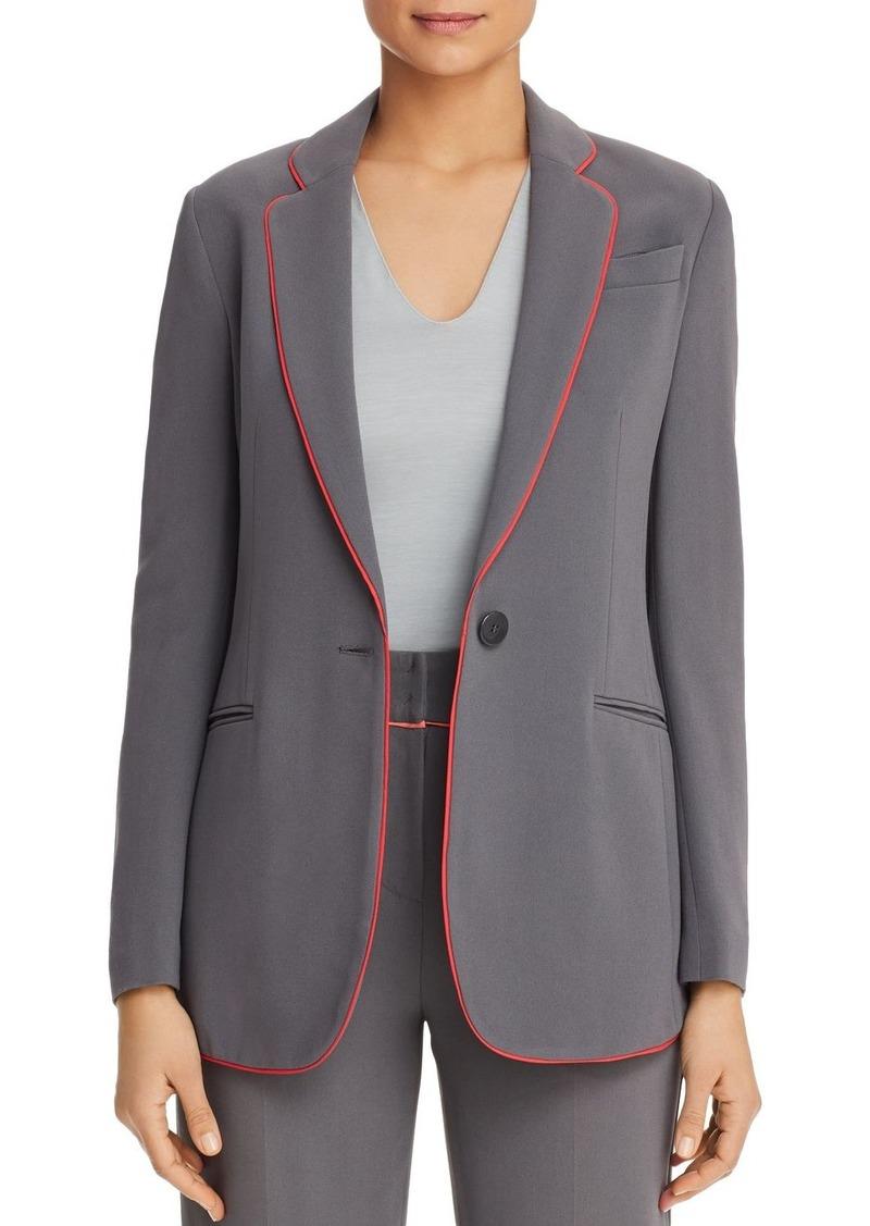 Emporio Armani Piped Single-Button Blazer