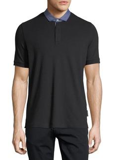 Armani Pique Polo Shirt w/ Contrast Collar