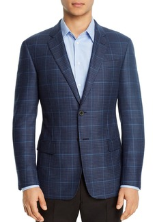 Emporio Armani Plaid Regular Fit Blazer